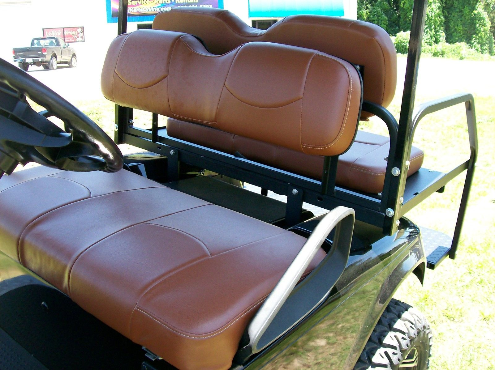 Front Bottom Club Car Precedent Tan Seat Covers